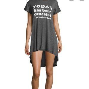 WILDFOX grey today has been cancelled sleep shirt